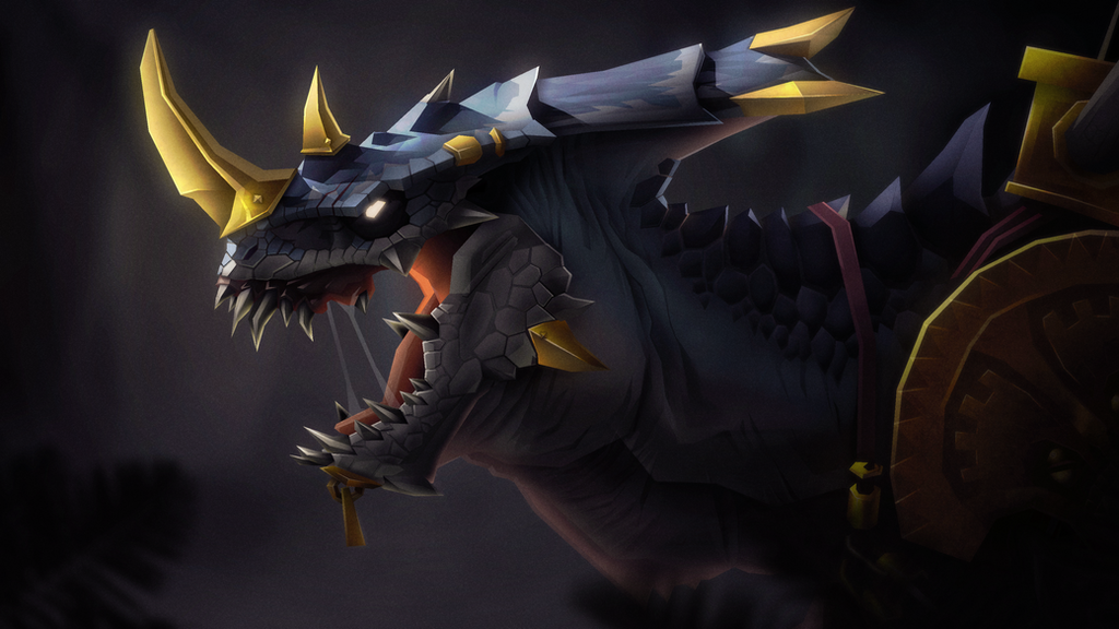 Saurus Warrior by TheFraggDog
