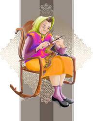 knitting by kawai-hime