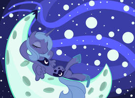 Chillaxing on the Moon by Tess-27