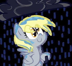 Derpy in the Rain