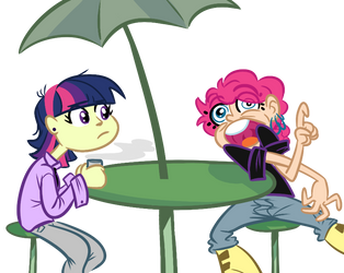 Pinkie Makes a Face and Twi Reacts by Tess-27