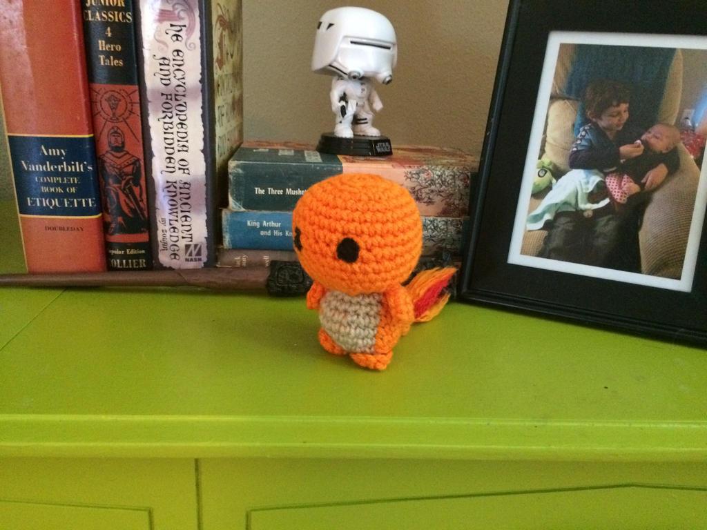 Crochet chibi charmander by buprettyinpink