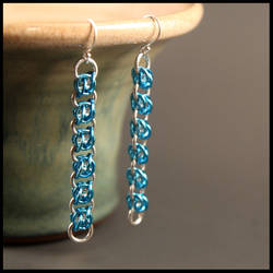 Blue Bee Stings Earrings