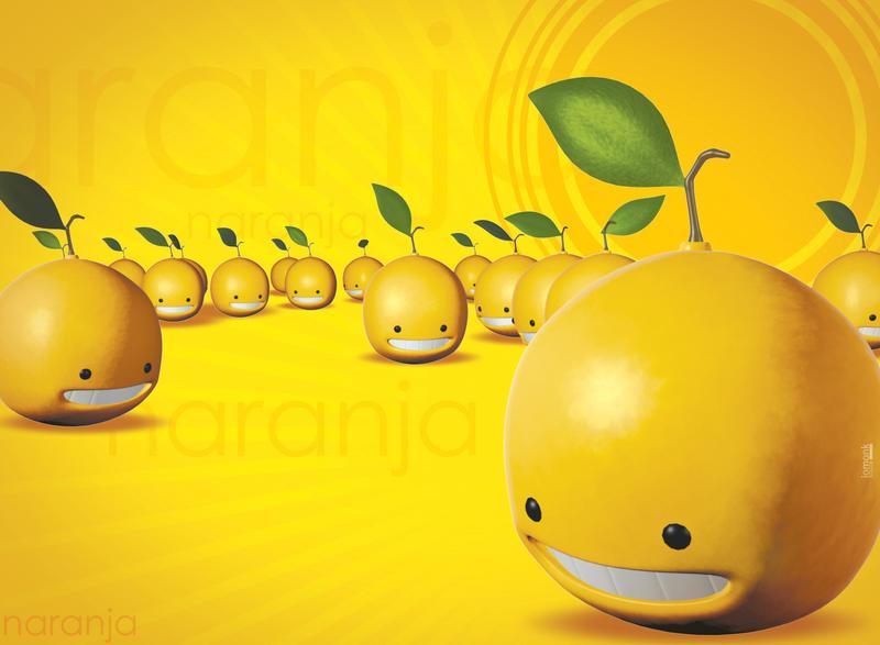 naranjas postcard