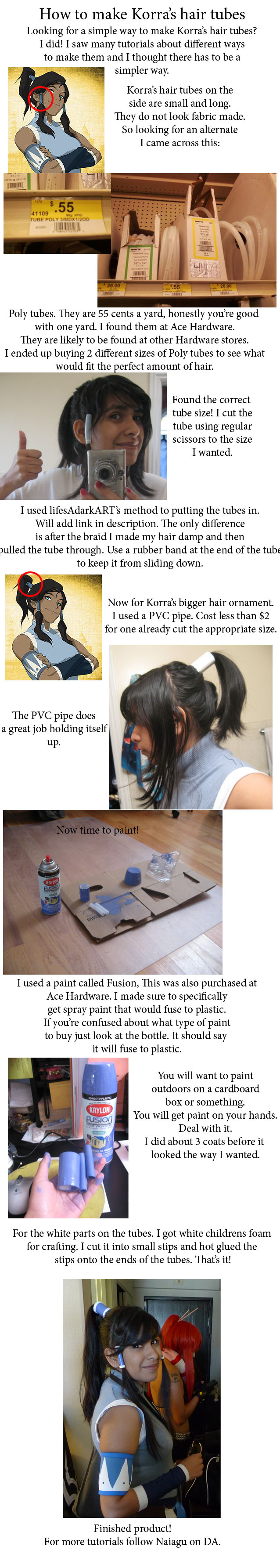 Korra Hair tube tutorial. by Naiagu