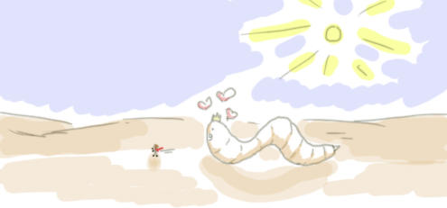 Eek sandworm by Neko-Alys-San