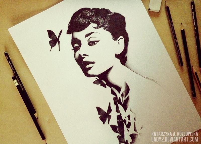 арт рисунки в инстаграме девушек
