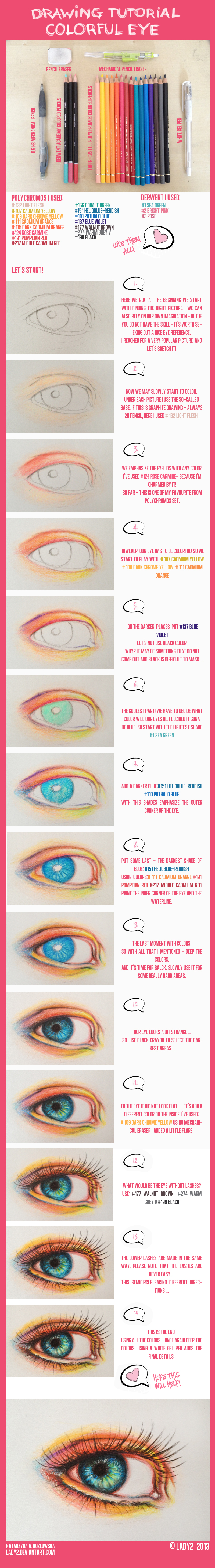 Colored pencil eye tutorial by lady2 colored pencil eye tutorial by lady2
