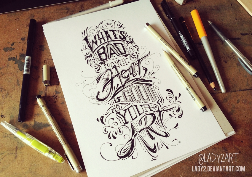 what's_bad ... - hand_lettering. by Lady2