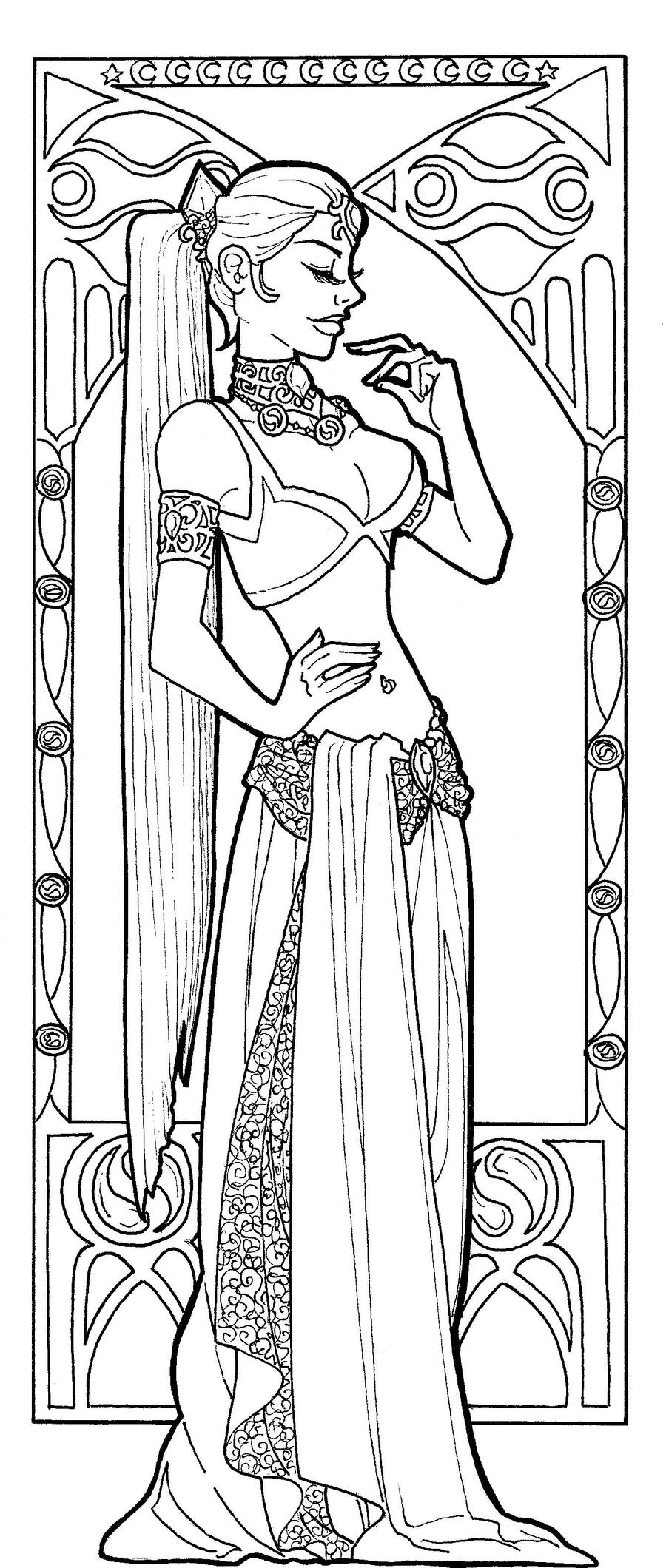Russian Princess Coloring Pages : Art nouveau nabooru by ashiey chan on deviantart
