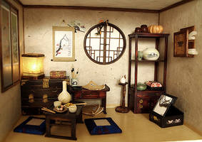 The orient traditional room by dollhouseara