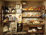 The Bakery -Vintage Country small bread shop by dollhouseara