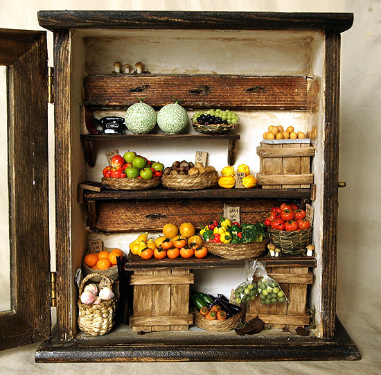 Vintage Small Old Shop (No.2)- Fruit And Vegetable By