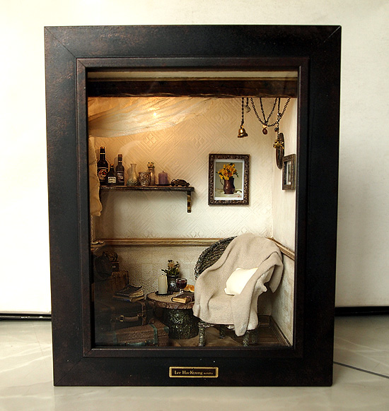 The Room With Old TRUNK (No.2)- Vintage Antique Ch By