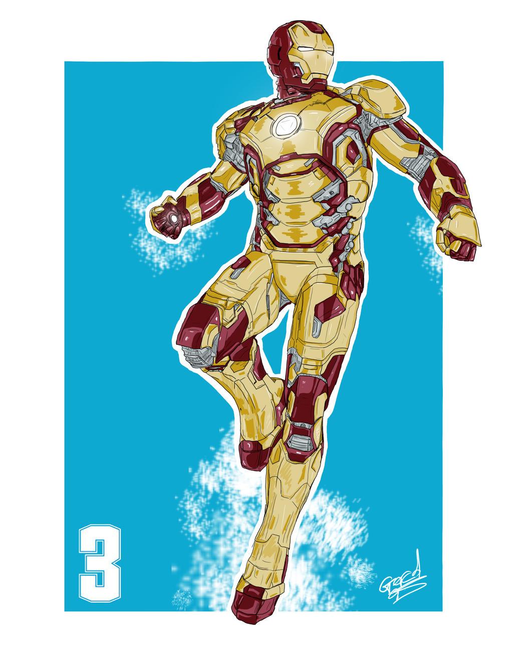 Iron Man 3 Painting by GerardGroves on DeviantArt