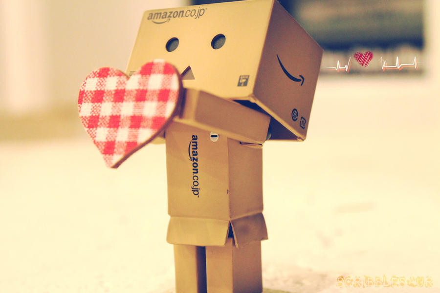 Danbo Gives You His Heart by Scribblesaur