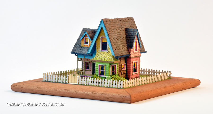 Pixar up scale model by artmik on deviantart for Model house movie