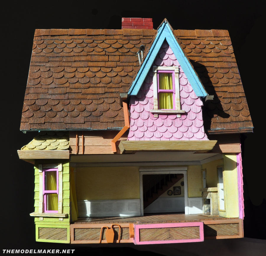 Up house with side wall open by artmik on deviantart for Model house movie