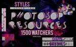 +PHOTOSHOP RESOURCES | 1.500 WATCHERS