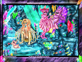 Mystic  Spectrum Crystal Gem Cave for Norngirl by Rutogirl