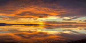 Sunset on Antelope Island