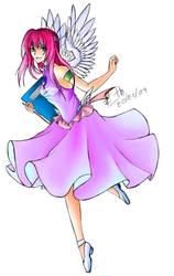 rainbow color angel by Phoenixkai