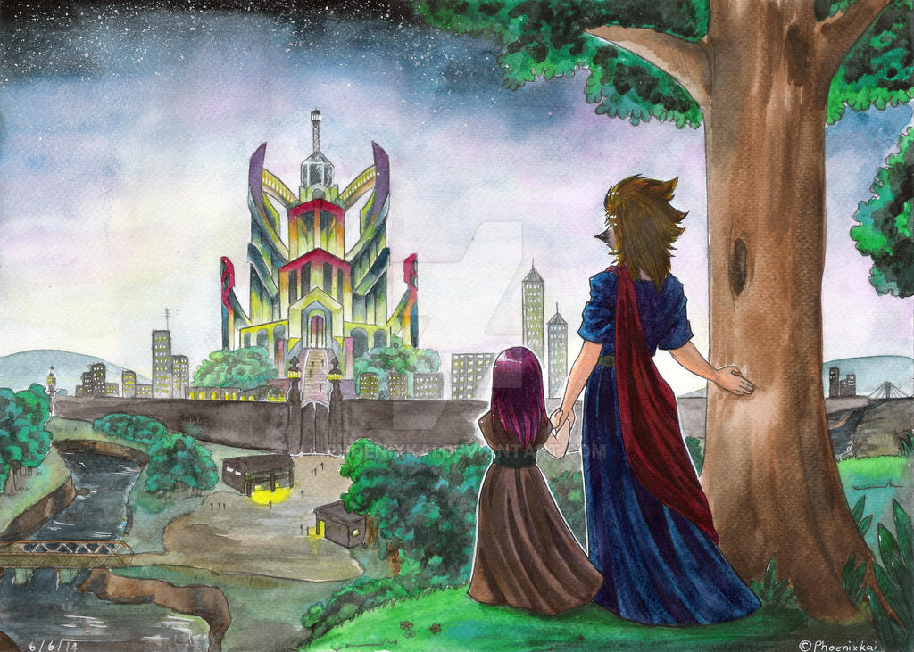 OC : castle by Phoenixkai