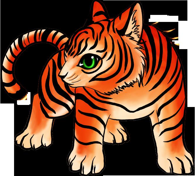 Cute chibi tiger