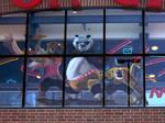 Kung Fu Panda 2 Window Painting