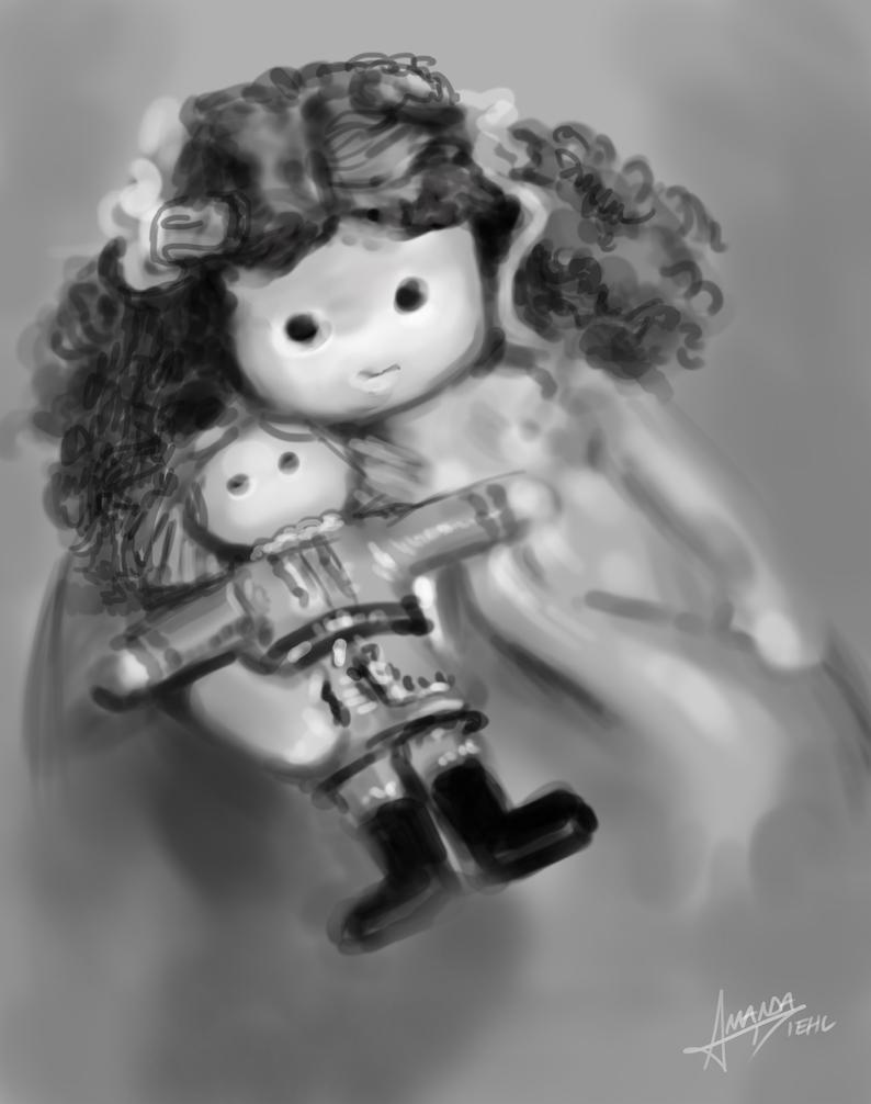 Nutcracker Doll Quick Study by paxdomino