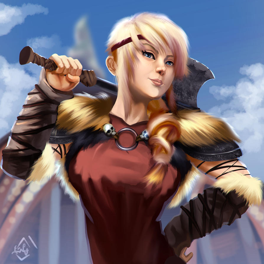 astrid axe on how to train your dragon
