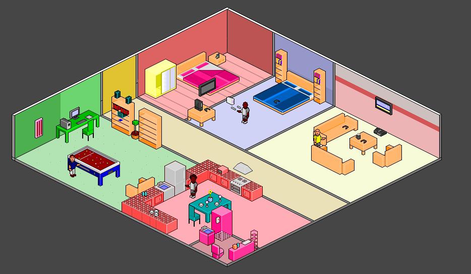pixel art rooms by trblue on deviantart
