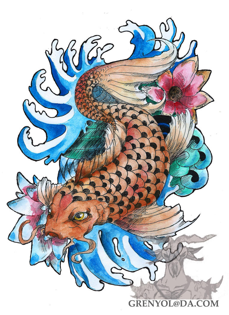 Koi tattoo gift by grenyol on deviantart for Gifts for tattoo artist