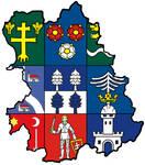 Heraldic map of Central Slovak region