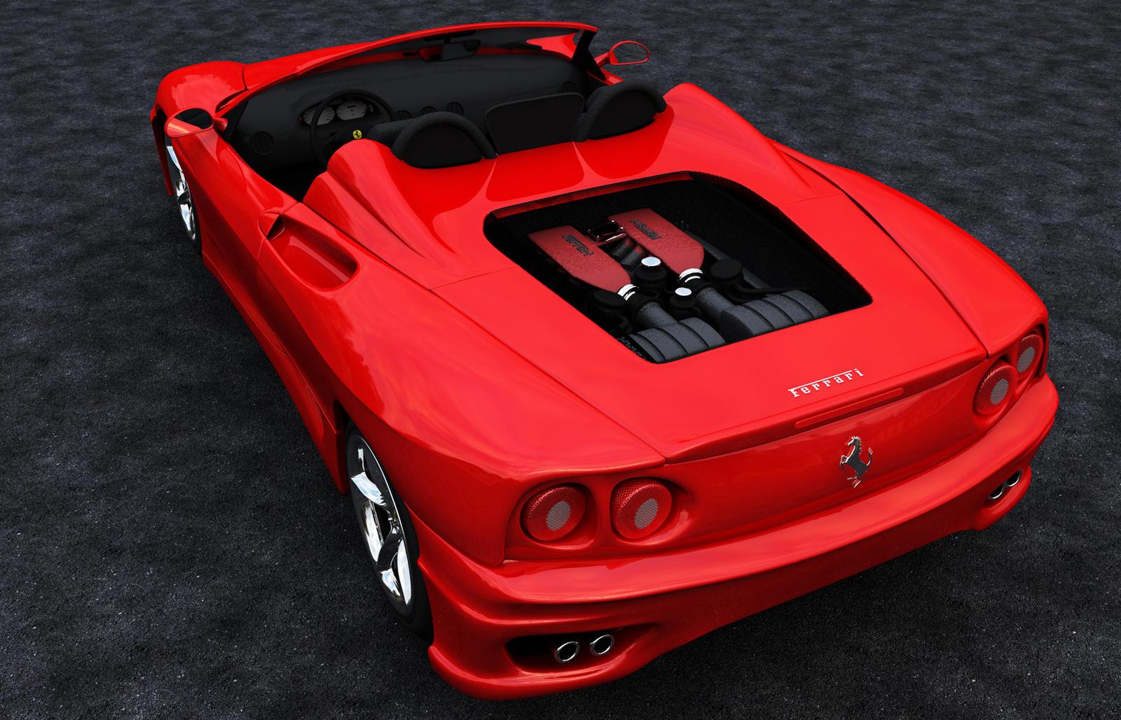 Ferrari F360 Spider back by