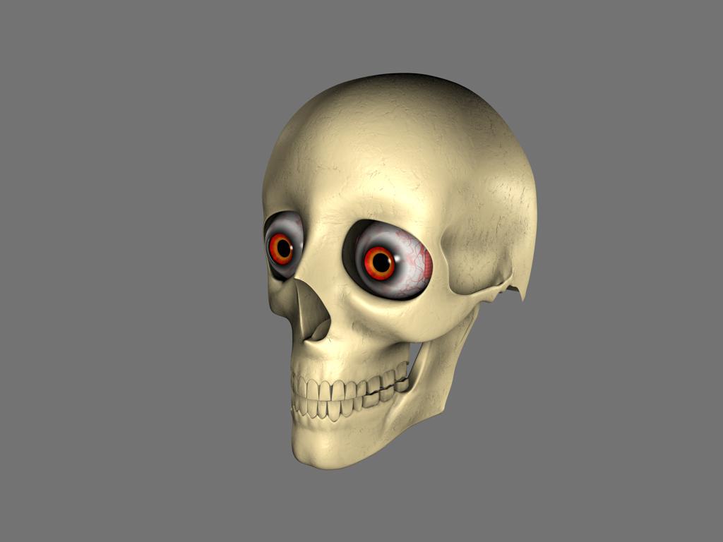 'Creepy' Skull WIP by DayLateHero