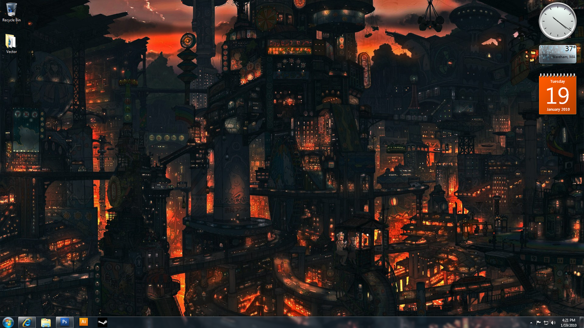 My desktop... by DayLateHero