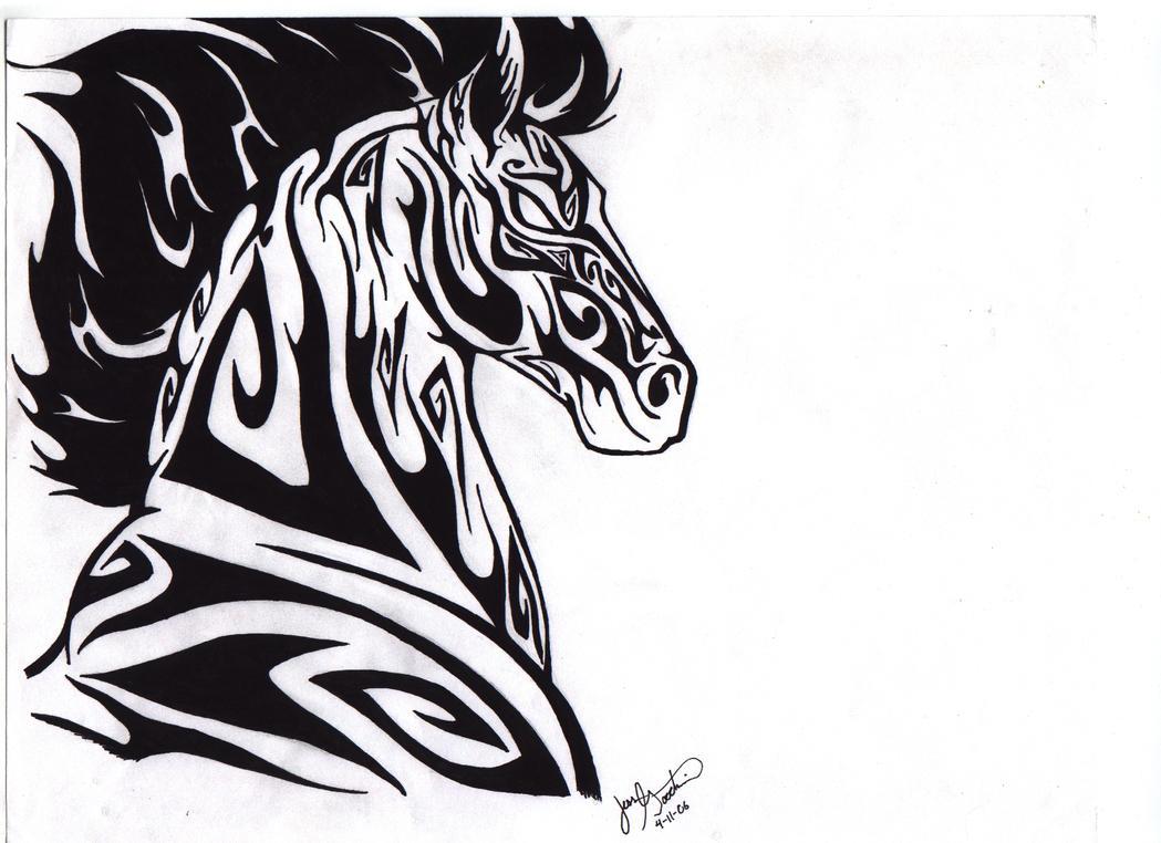 tattoos tribal denver darkmoonwolf21 Horse by Tribal on DeviantArt