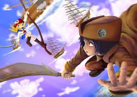 Playing Pirate!! by kyazart