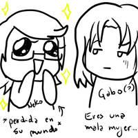 .: Gabo loves me -w- :. by OhAnika
