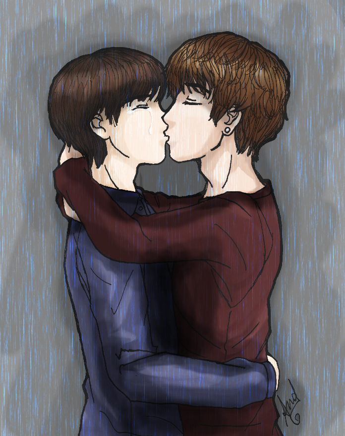 .: SuChen - Kiss in the rain :. by OhAnika