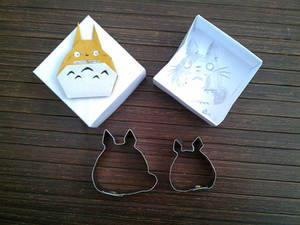 pair of Totoro cookie cutter