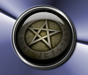 Scrying Mirror Runic Pentacle by Lancaid