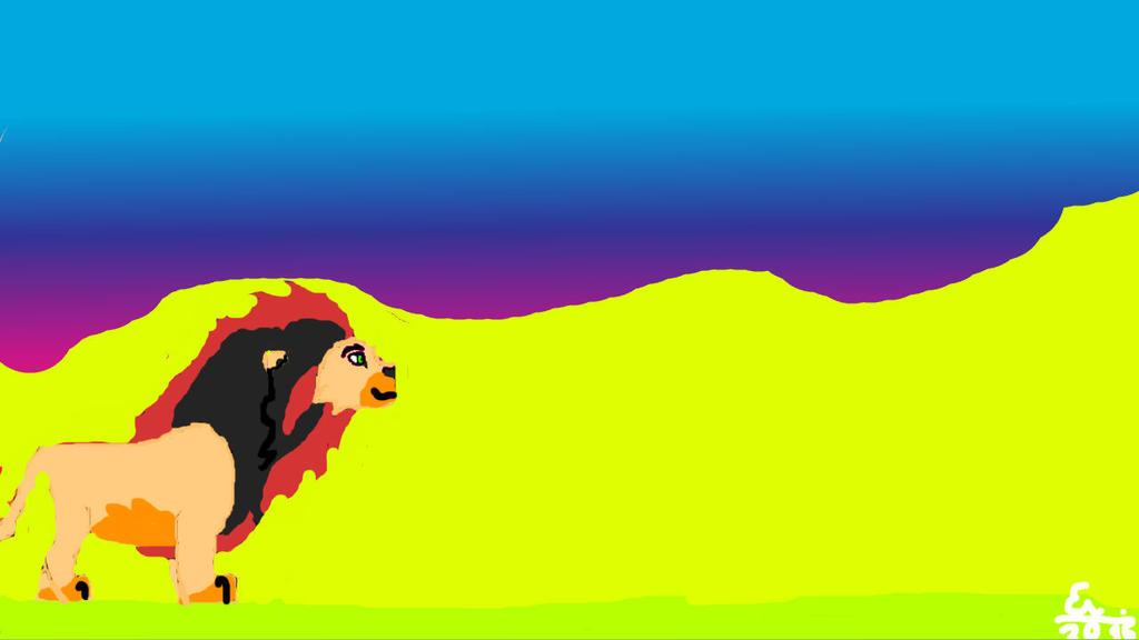 Ahadi's father, Sora by Lionkid2