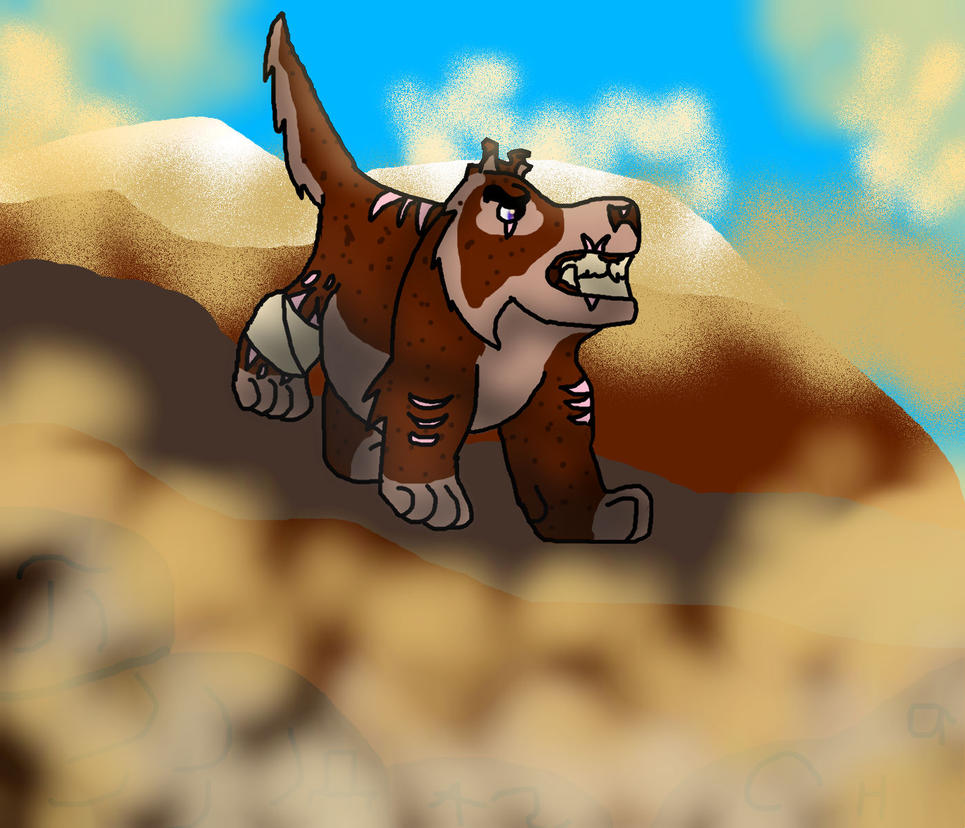 Mountain dog by Lionkid2