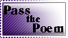 Pass the Poem Stamp by VertigoArt