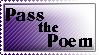 Pass the Poem Stamp by VertigoArt