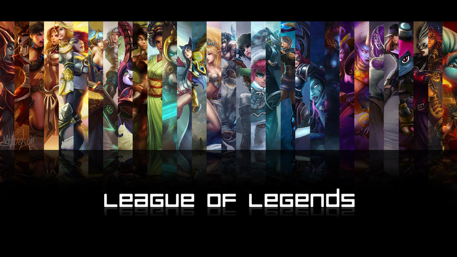 League Of Legends Female Champions Wallpaper By Cassaria