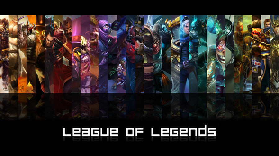 League of Legends - Male Champions Wallpaper by Cassaria