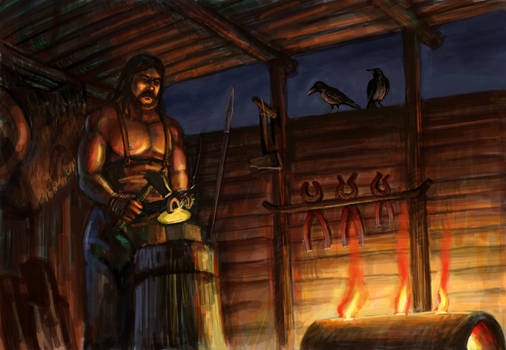 The blacksmith of Perkon